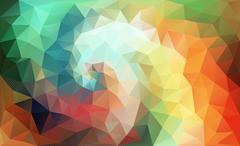 Color Swirl polygon Stock Illustration