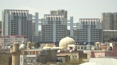 Azerbaijan Baku Modern Main Street - stock footage