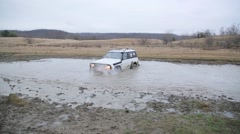 4x4 offroad vehicle - stock footage