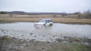 Stock Video Footage of 4x4 offroad vehicle