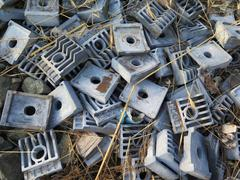Railway Sleeper Clips Stock Photos