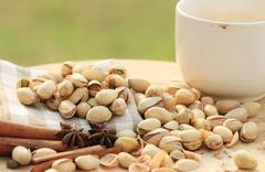 Stock Photo of Pistachio nut and chinese herb
