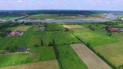 Stock Video Footage of Dutch landscape from above