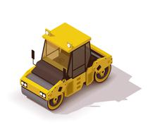 Vector isometric road roller Piirros
