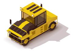 Vector isometric pneumatic road roller Piirros