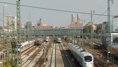 Munich Hauptbahnhof - stock footage