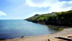 Beautiful Sea, Tile Shift, Posterized Time, Howth, Dublin Bay, Ireland Stock Footage