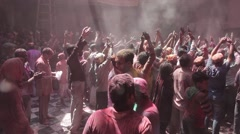 Holi - festival of colours. Day 2nd Stock Footage