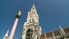 Munich Townhall Stock Footage