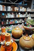 Stock Photo of pottery products in shop.