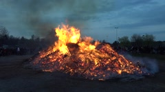 Traditional Walpurgis Night in Sweden Stock Footage