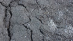 Shot of dried and cracked earth Stock Footage