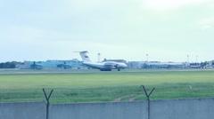 Ilyushin Il-76 at Novosibirsk Tolmachevo Airport. Stock Footage