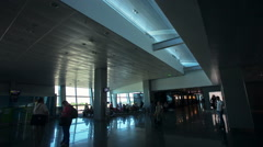 Passengers silhouettes at the airport. concept about traveling Stock Footage