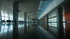 Large empty hallway Stock Footage