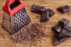 Grated chocolate Stock Photos