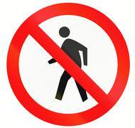 Stock Illustration of No Pedestrians In Indonesia
