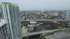 Brickell City Center aerial drone video 5 Stock Footage