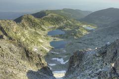 High mountain landscape - stock photo