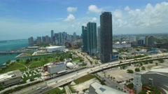Downtown Miami aerial drone 4k Stock Footage
