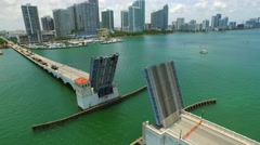 Venetian Causeway repair 4 Stock Footage