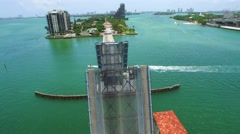 Venetian Causeway repair 3 Stock Footage