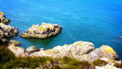 Beautiful Sea, Tile Shift, Time Lapse, Howth, Dublin Bay, Ireland Stock Footage