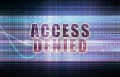 Access Denied Stock Illustration