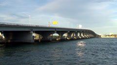 General Douglas MacArthur Causeway, Miami Stock Footage