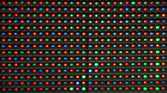 RGB LED Display as Technology Background - stock footage