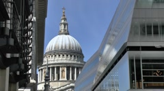 Stock Video Footage of The dome St Pauls Cathedral, London, UK.