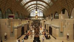 Interior museum d'Orsay in Paris, France Stock Footage
