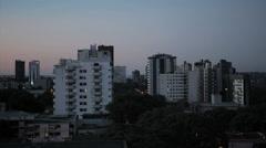 City view at morning. Foz do Iguazu, Brazil Stock Footage