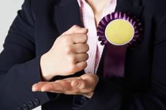 Close Up Of Female Politician Making Passionate Speech - stock photo