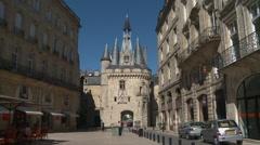 Bordeaux Big bell door Stock Footage