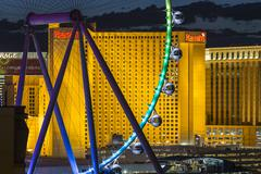 Las Vegas Strip Ferris Wheel Detail - stock photo