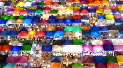 Night market. Time Lapse Stock Footage
