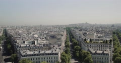 Ultra Sharp view over Paris Stock Footage