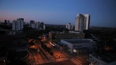 City view at morning. Foz do Iguazu, Brazil. Traffic. Stock Footage