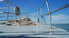 Bow point of view of a passenger ship in Andaman sea Stock Footage
