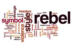 Rebel word cloud concept - stock illustration