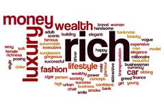 Rich word cloud concept Piirros