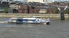 A Thames Clippers river bus on the River Thames, London, UK. Stock Footage