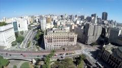 The Anhangabau Valley in Sao Paulo, Brazil Stock Footage
