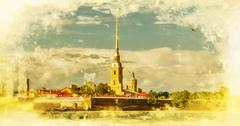 Peter and Paul Fortress, Saint Petersburg.Russia. - stock photo