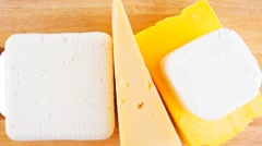 Some types of cheese Stock Footage