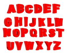 Toy letter. Red alphabet. Cartoon children ABC. Vector illustration Stock Illustration