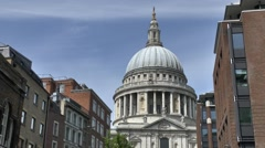 Stock Video Footage of St Pauls Cathedral, London, UK.