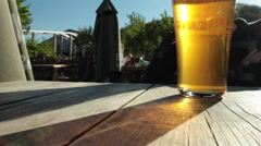 Pint Of Beer In The Sunlight Stock Footage