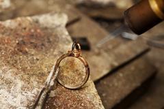 jeweler solder ring - stock photo